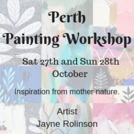 Perth Weekend Painting Workshop 27/28 Oct