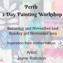 Perth Weekend Painting Workshop 2/3 Nov 2019