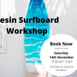 Resin Surfboard Workshop 14th November