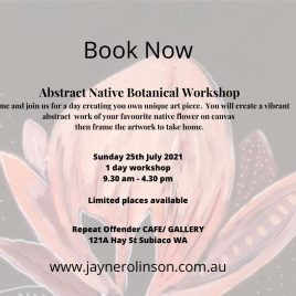 Perth Abstract Native Botanical Workshop 24th July