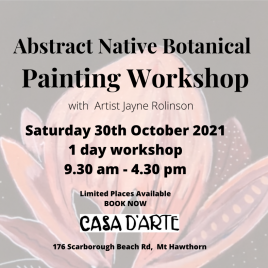 Abstract Botanical Workshop Saturday 30th October